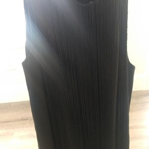 sleeveless Black h&m dress size 4 with tassels
